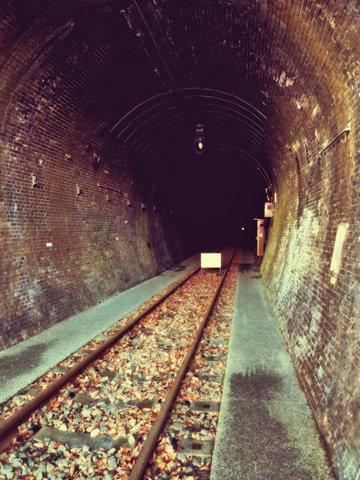 トンネル入口から