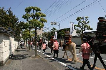 光澤寺の前の道
