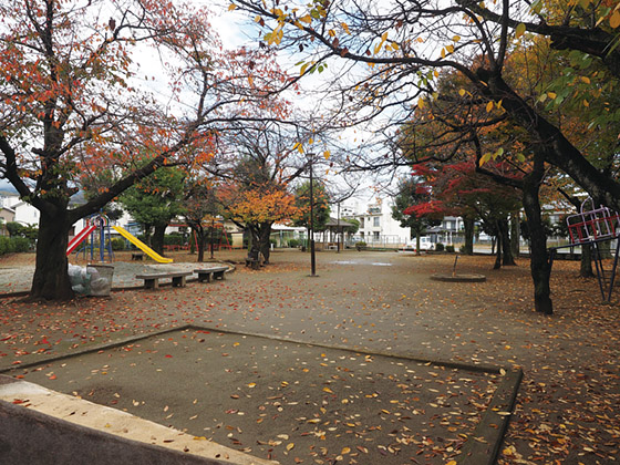 二十人町児童公園。春は桜が美しい公園。